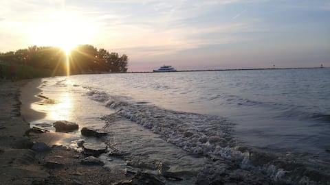 Retraite bij Lake Erie