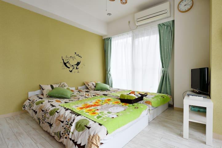 4minOsaka!Totoro room!! - Osaka-shi - Apartmen