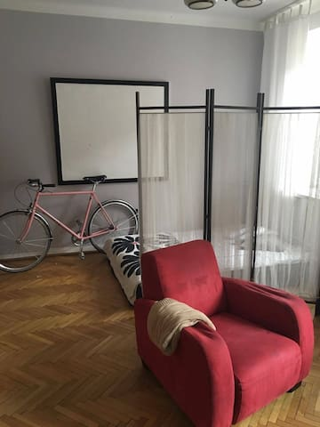 Sunny room in the City center