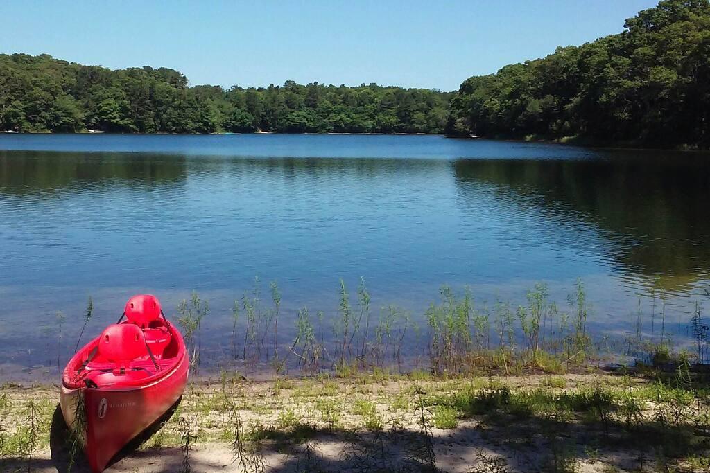 Great kayaking in our lake