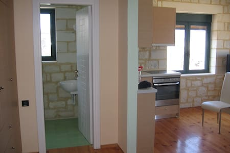 The appartment is built by stone.48 square metres. - Chania