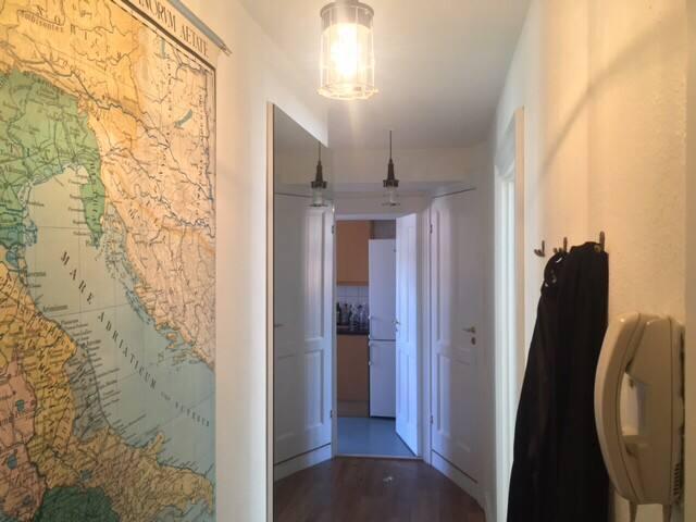 Hallway. Map of Italy