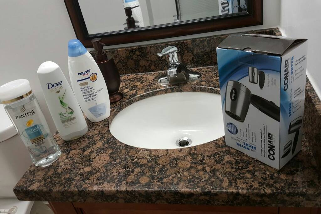 Soap, Shampoo,  Drier