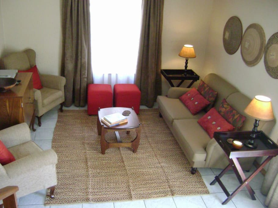 Lounge area adjoining dining area, downstairs