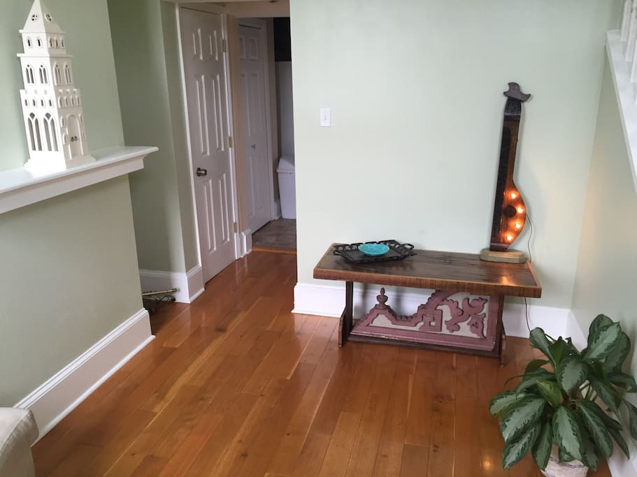 Living Room with local custom handmade furniture with a distinct New Orleans flair
