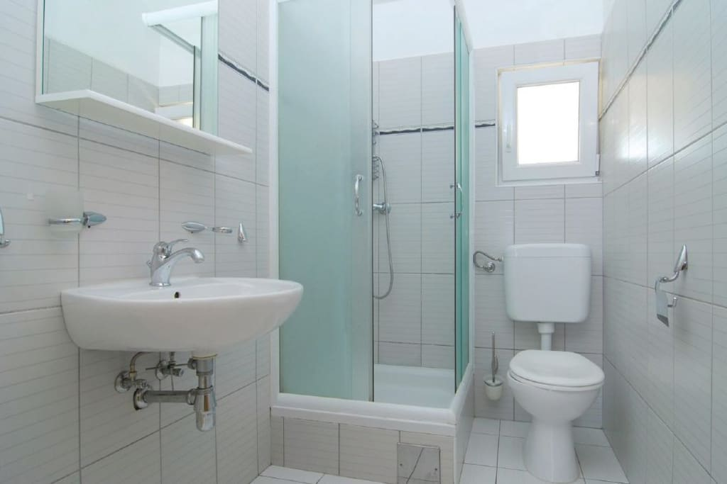 Clean and white bathroom