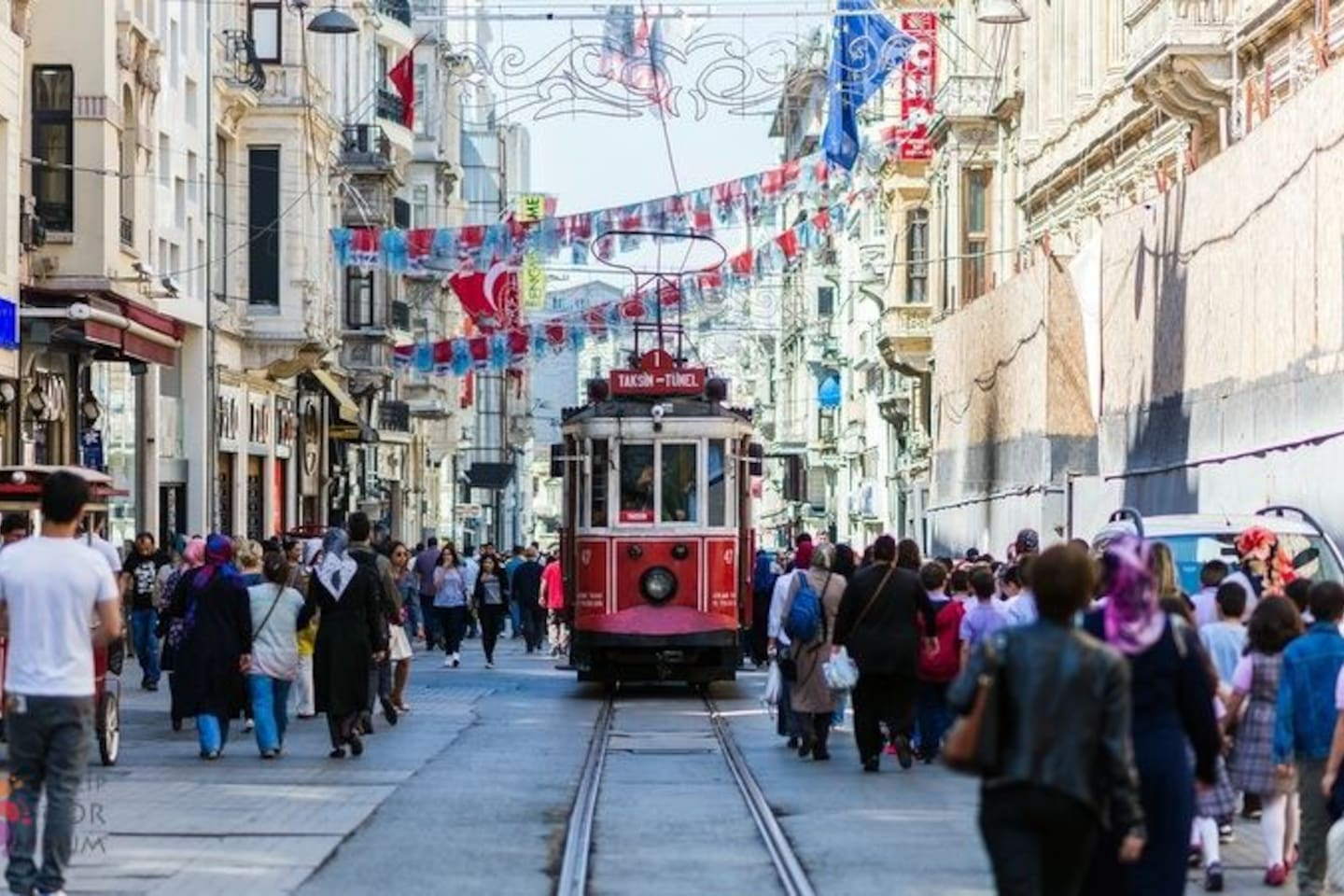 İstiklal street ( 500 metre far from our house)