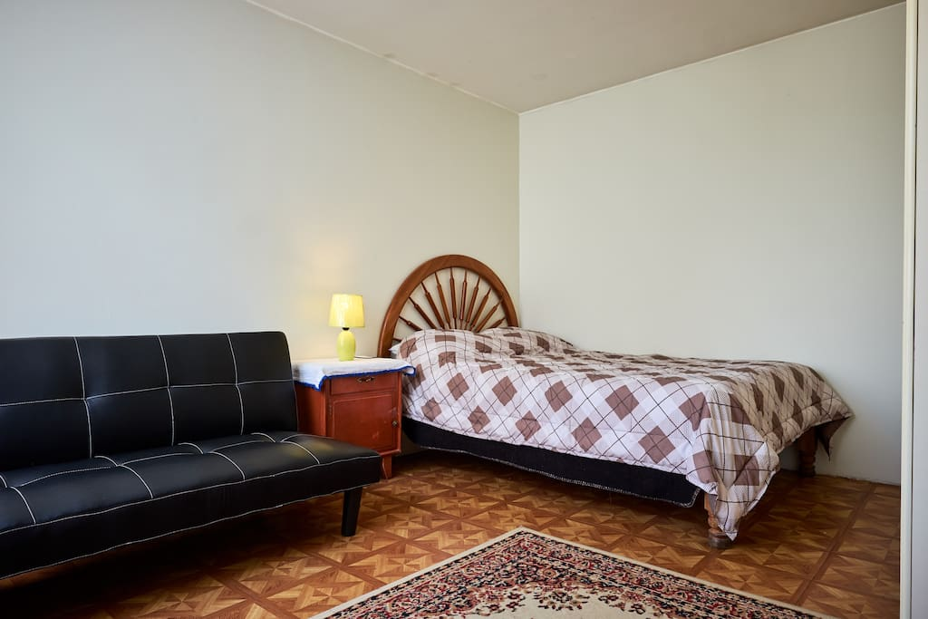Large bed with sofa bed
