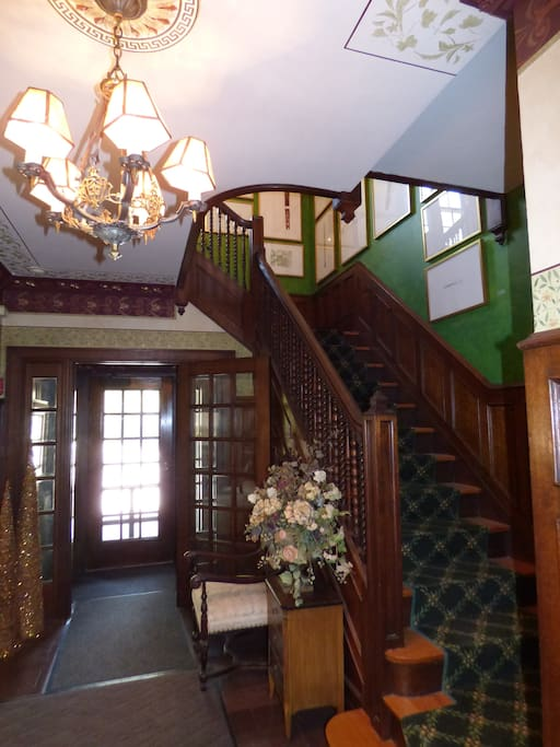 Main entry and the staircase to the second floor