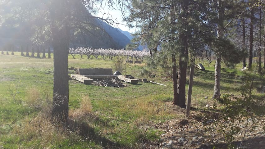 Private Riverside Campsite @ Molly's Beach Farm - Keremeos - Karavan/RV