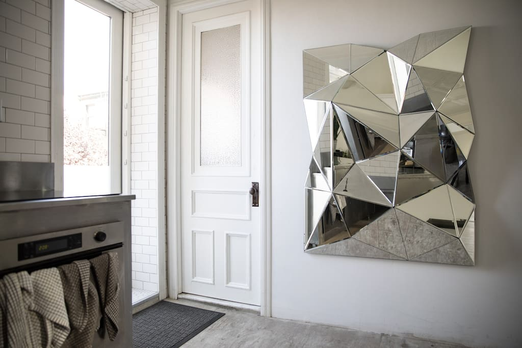 I have a lot of mirrors in the house, not really for looking at yourself, more for opening up hidden dimensions.