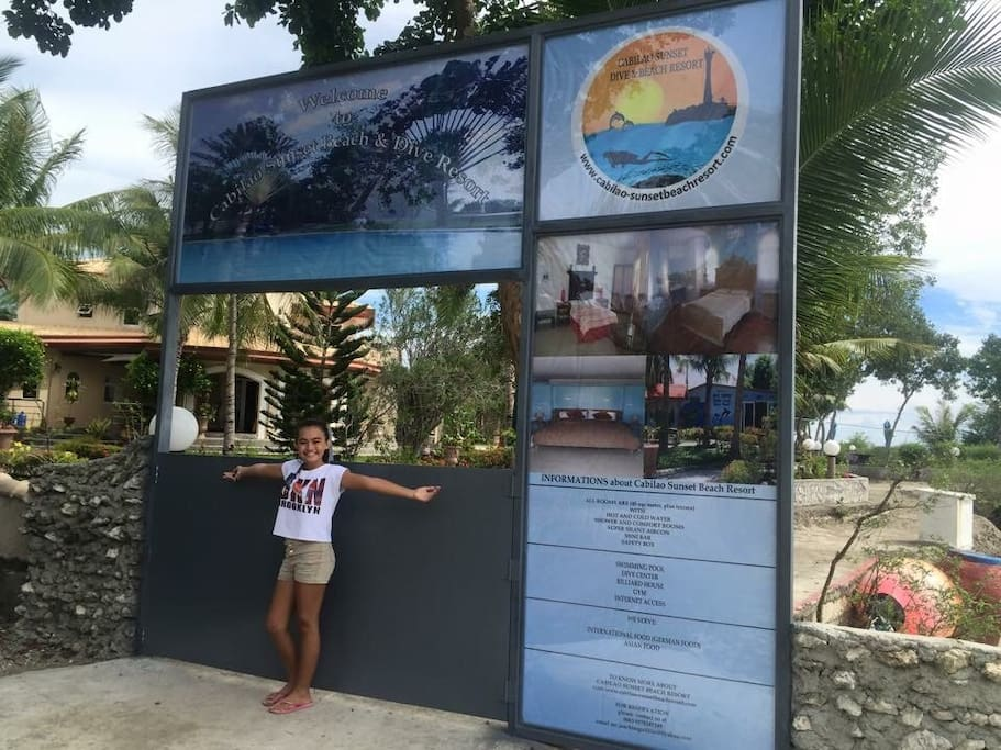 Entry to the Cabilao Sunset Dive and Beach Resort