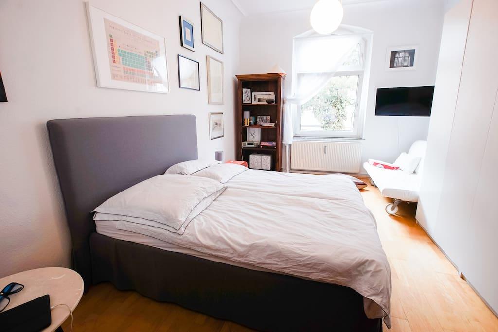 Doppelbett für Buchungen 1-2 Personen