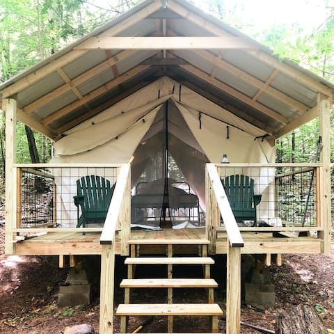 Luxury Tent w/ Amenities in the NH Lakes & Mtns
