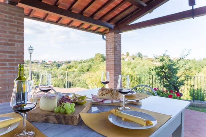 Scenic villa 30min to Pisa & S Gimignano NO BILLS