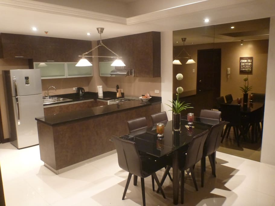 Sophisticated dining area,