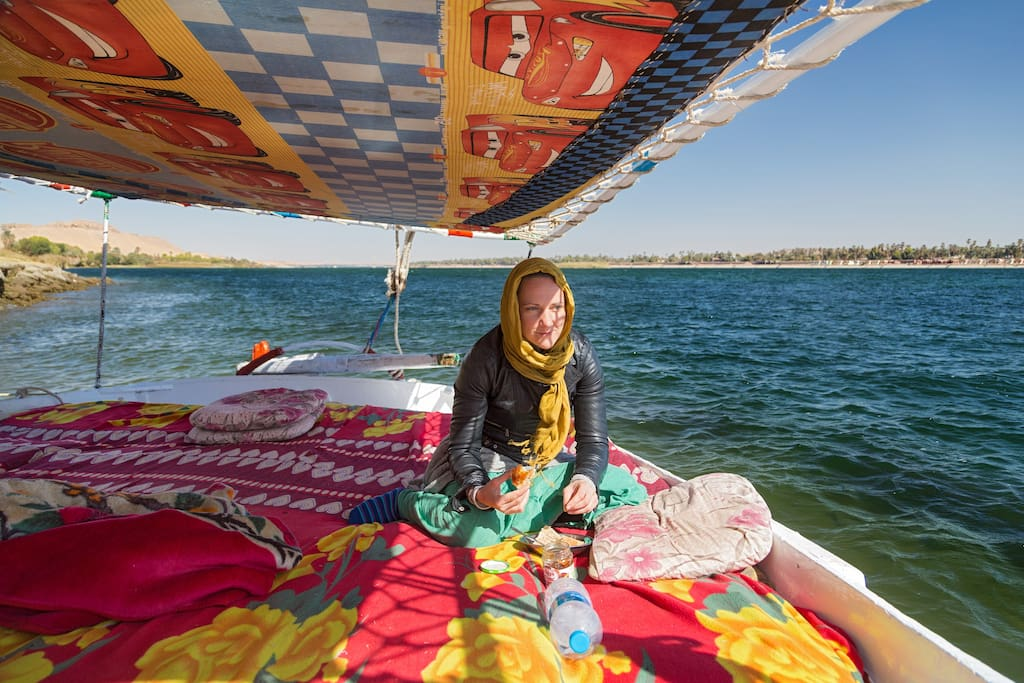 Guest enjoying time on felucca