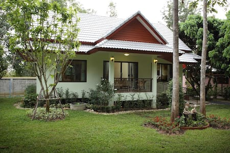 Hideaway Family House in the Garden**Breakfast** - Nong Han - House
