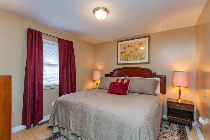 King size bed in Bedroom 1