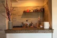 La kitchenette. Petite mais pratique.
