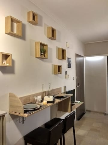 Modern apartment in the heart of Athens. #greyroom