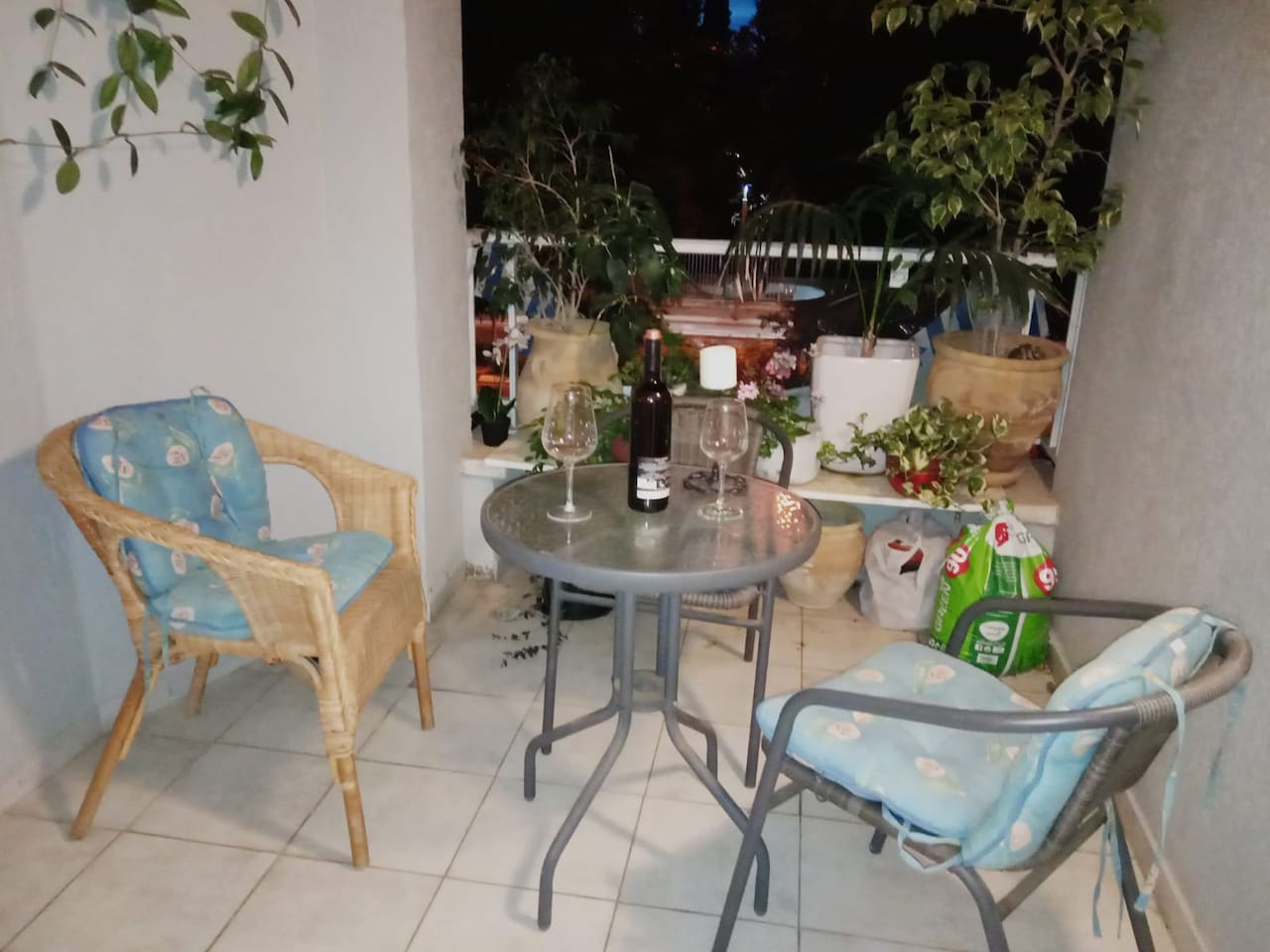 Enjoy the balcony on a warm evening with a glass of wine or coffee.