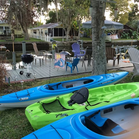 MERMAID BUNGALOW-KAYAKS/BIKES/PADDLE BOAT INCLUDED - Weeki Wachee - Dom