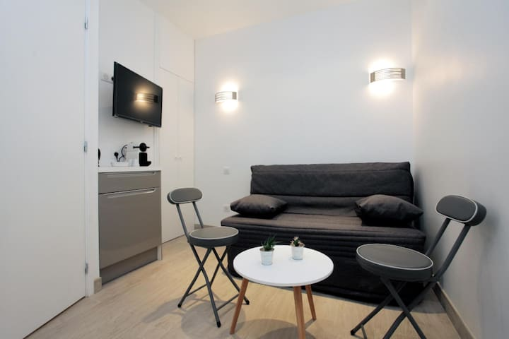 RENOVATED STUDIO NEAR THE PALAIS DES FESTIVALS IN CANNES FOR 2 PEOPLE.