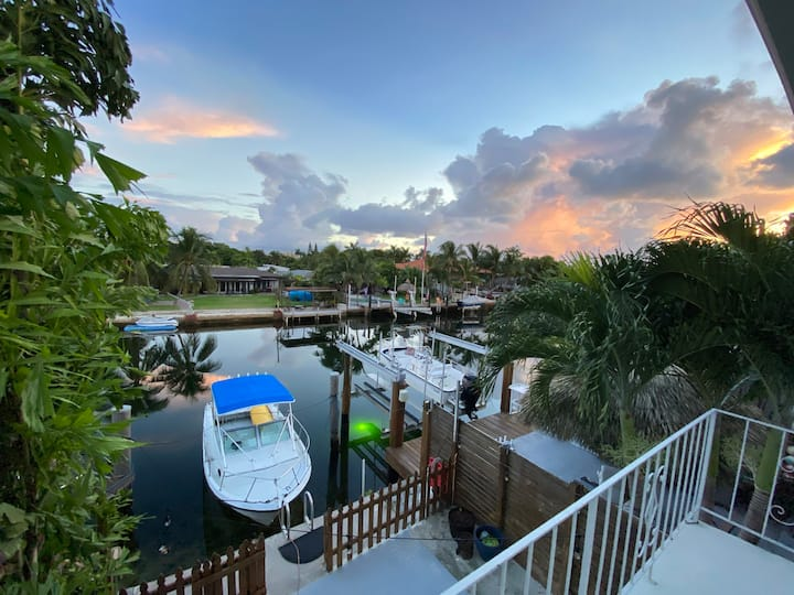 Private Townhouse On Canal– Central Miami Location