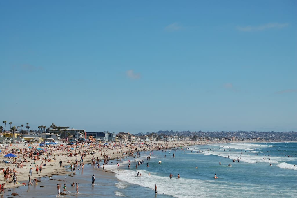 Pacific beach surfing