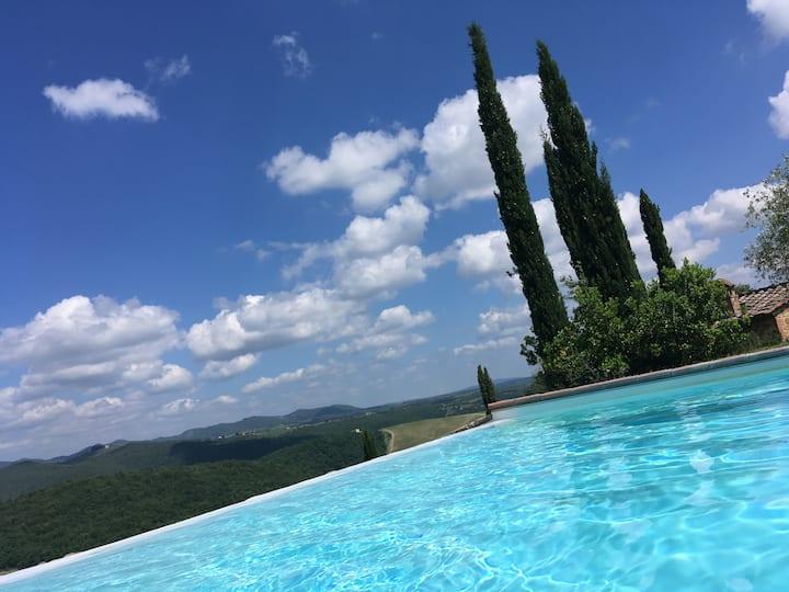 Castelnuovo Berardenga Chianti hilltop nr Siena
