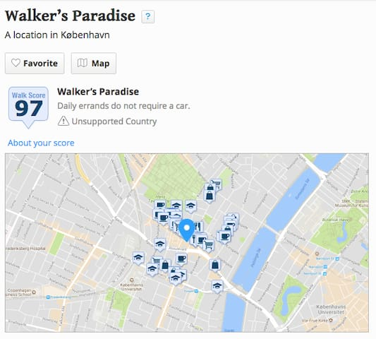 Near perfect walk score : Walker's Paradise! Parks, restaurants, and attractions very near.