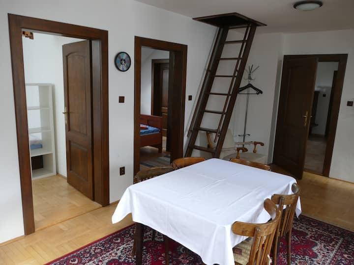 podkrovní apartmán v centru města Nová Paka