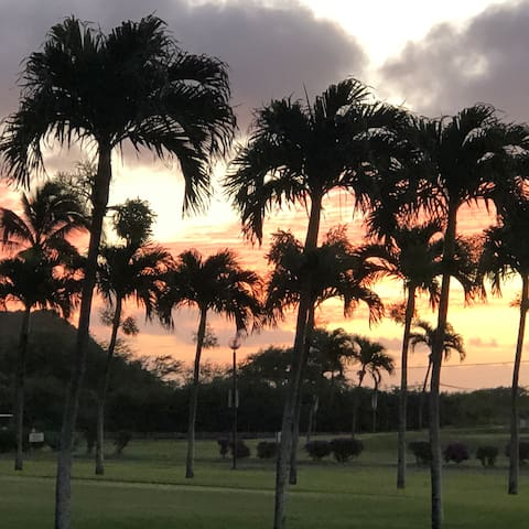 Sunrise at the Hawaii Kai Golf Course