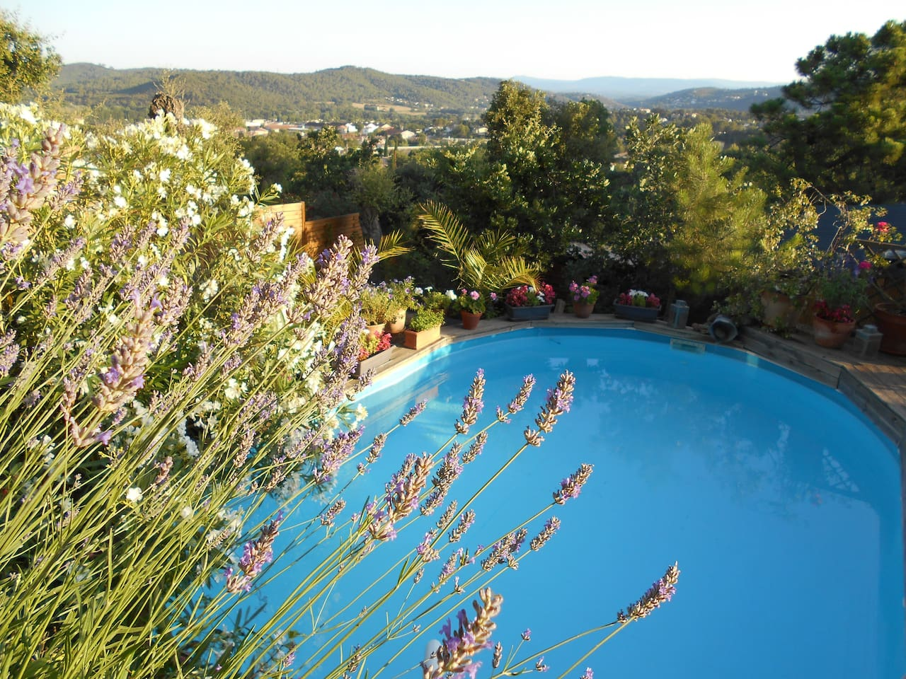 view above the communal dipping pool