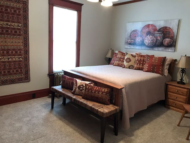 Bedroom in a turn of the century Victorian home