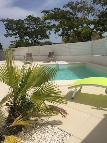 la villa Picholine en petite Camargue