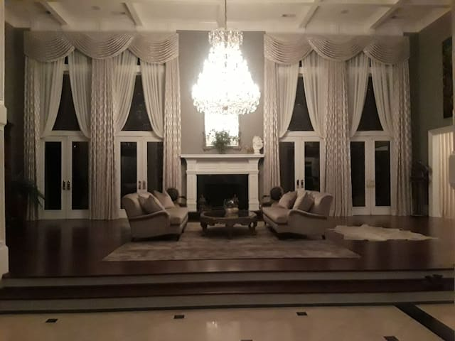 The ultimate space grand high ceilings absolutely stunning.