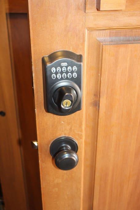 Front door- code is provided upon booking