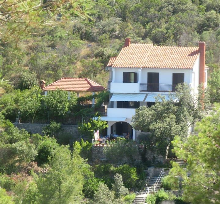 Seafront rural big house at Croatia island