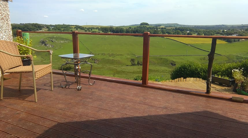 out the back - the decking - you're welcome to share it with us.