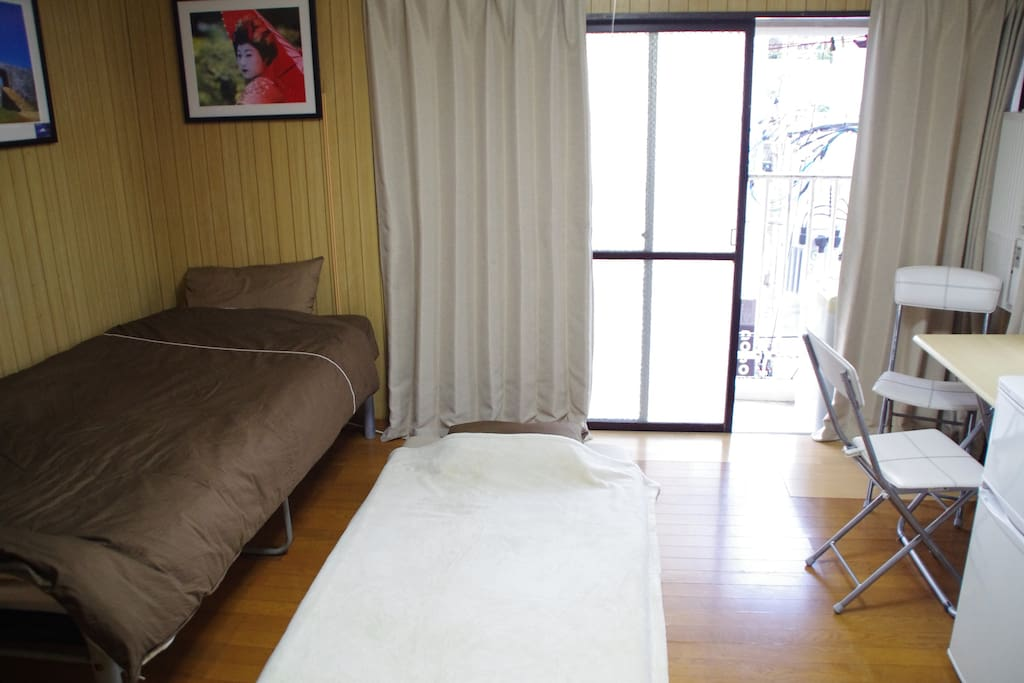 Extra floor futon to sleep a second person