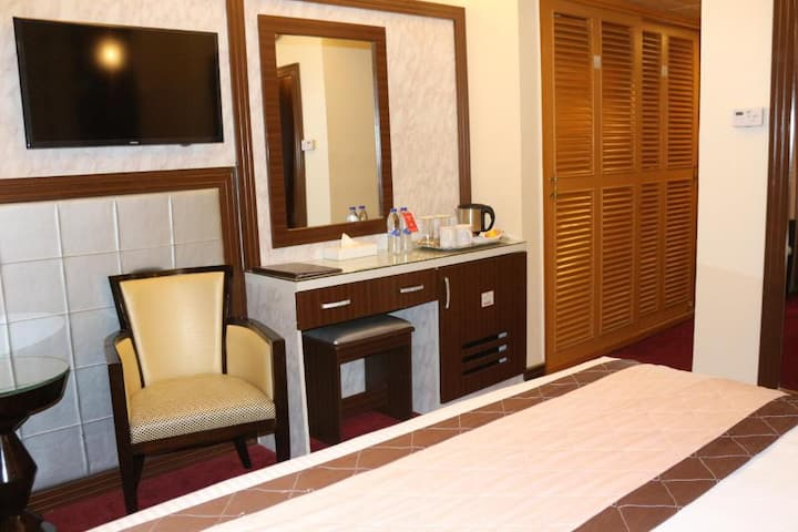 Private Room with Balcony and daily housekeeping