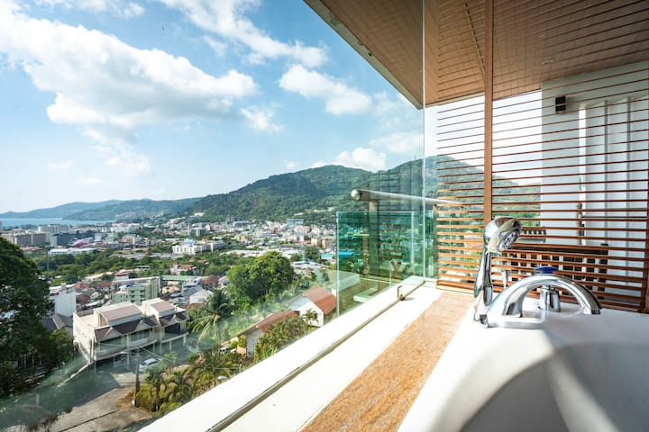 Spacious Apartment Private Jacuzzi Sea View@Patong