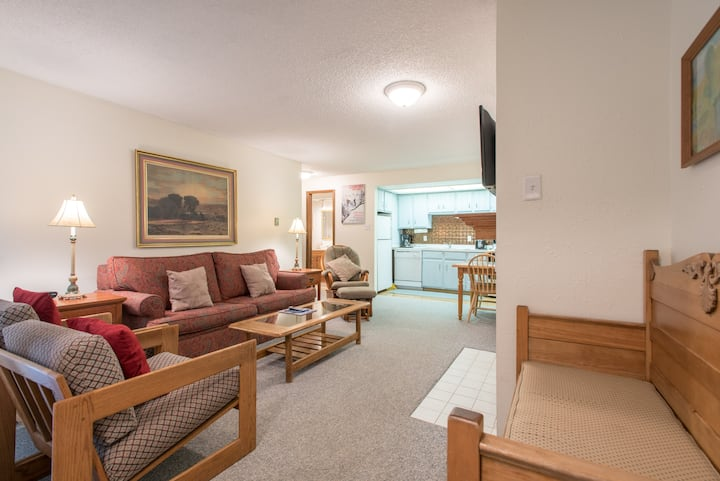 Cozy Ski-in/Walk-out condo, free wifi, & parking, great valu