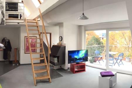 15 z maisonette loft 62qm balkon domblick - Geraumige Und Helle Loft Wohnung Im Herzen Der Grosstadt