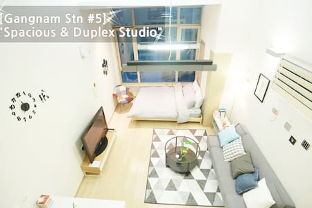 [Gangnam STN#5]New! Spacious&Duplex&Comfort studio - Gangnam-gu - Apartment