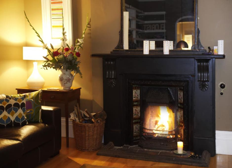 Open fire for winter stays  - lots of logs in the conservatory.