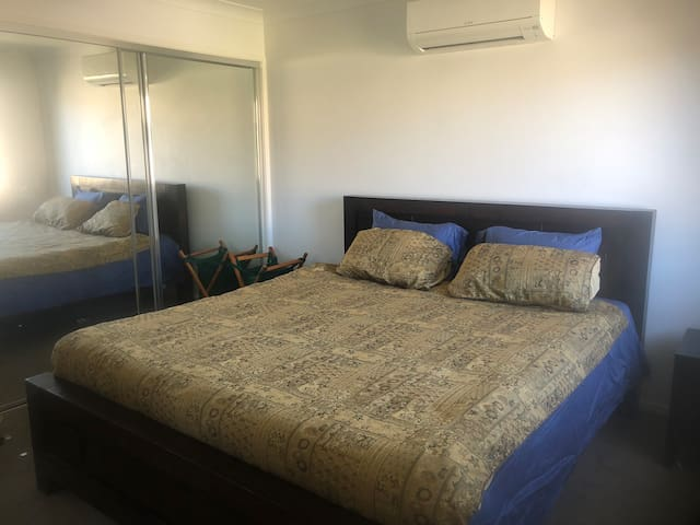 Spacious Master bedroom with a kings bed,