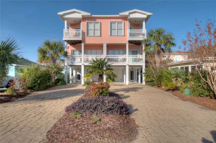 Coral Casa: Kure Beach  is a 4 Bedroom Duplex with 2 Private Outdoor Decks, Oceanic View, and a Short Walk to the Beach.